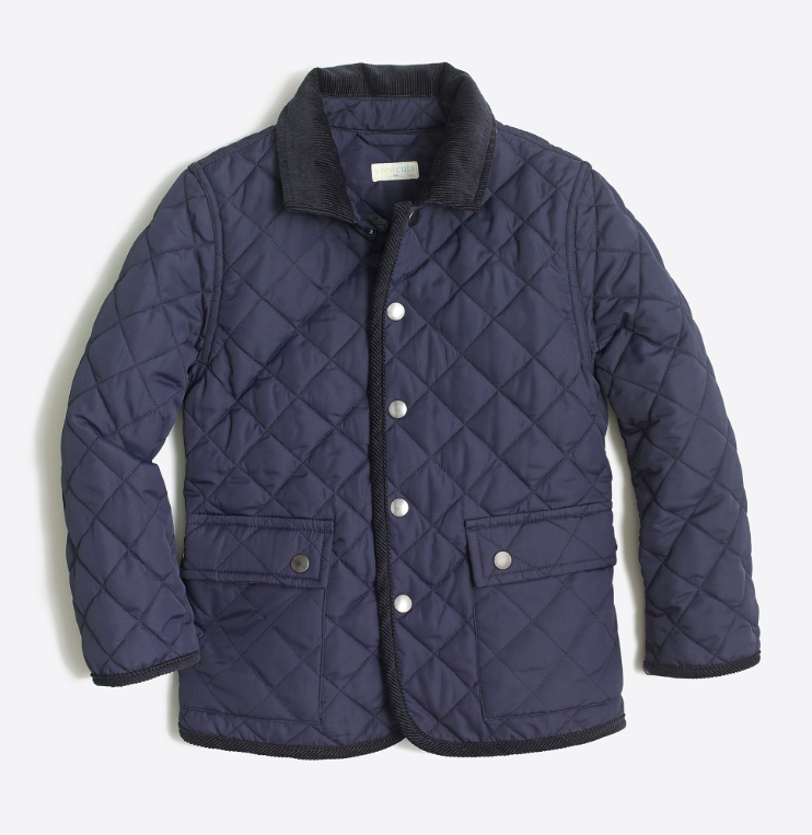 Boys' Navy Quilted Barns Jacket