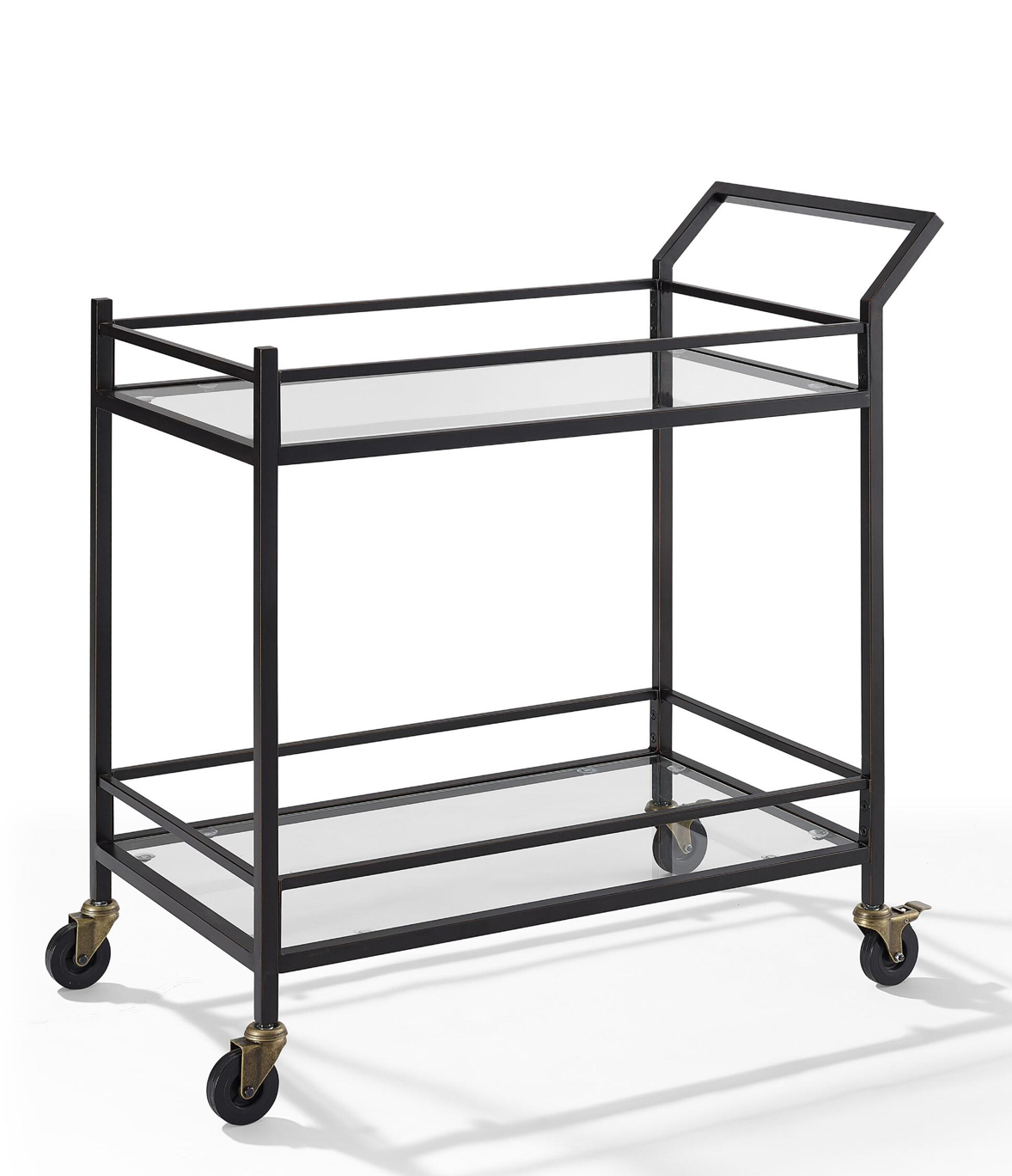 Bronze Finish Steel Bar Cart