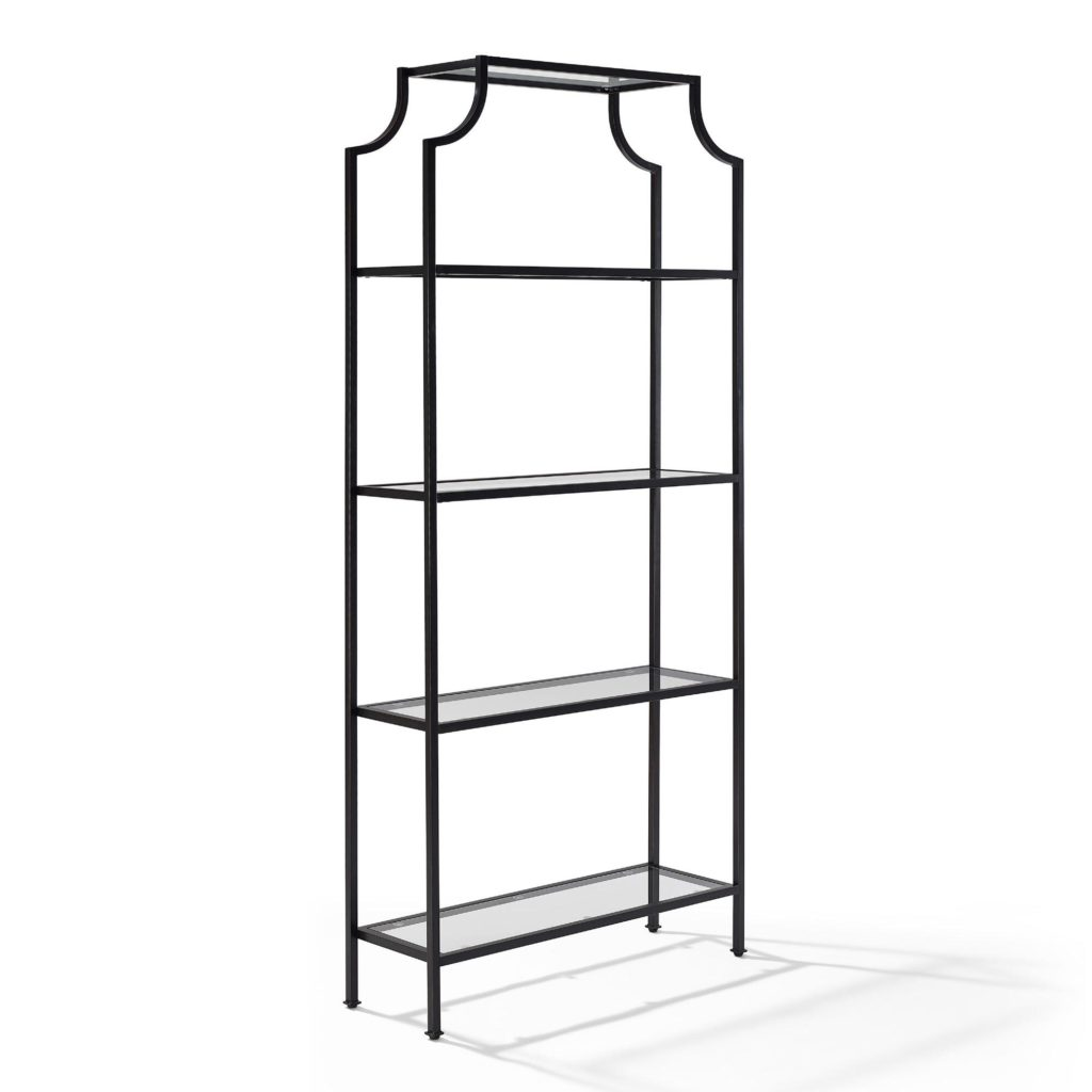 Steel Frame and Glass Shelves