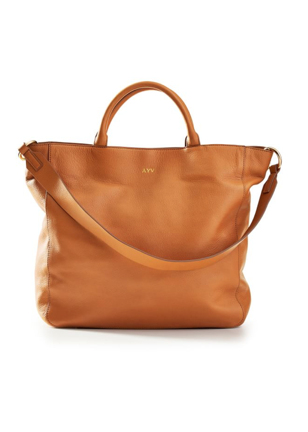 Leather Monogram Tote