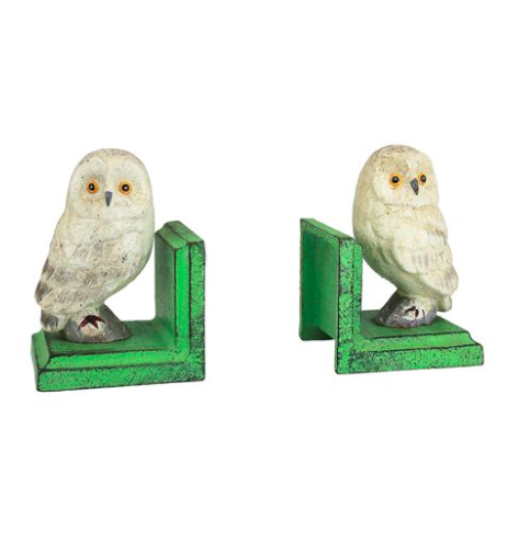 Cast Iron Owl Bookends Nursery Decor