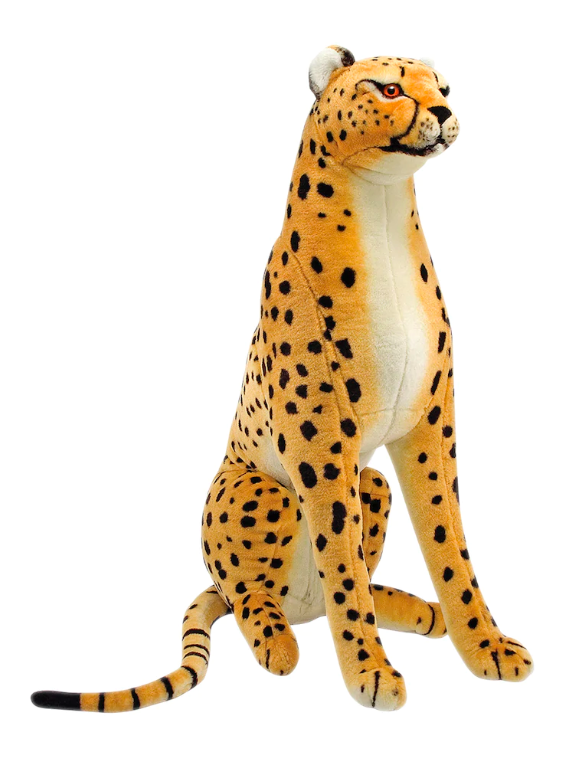 Giant Cheetah Plush Stuffed Animal Leopard Kids Toy