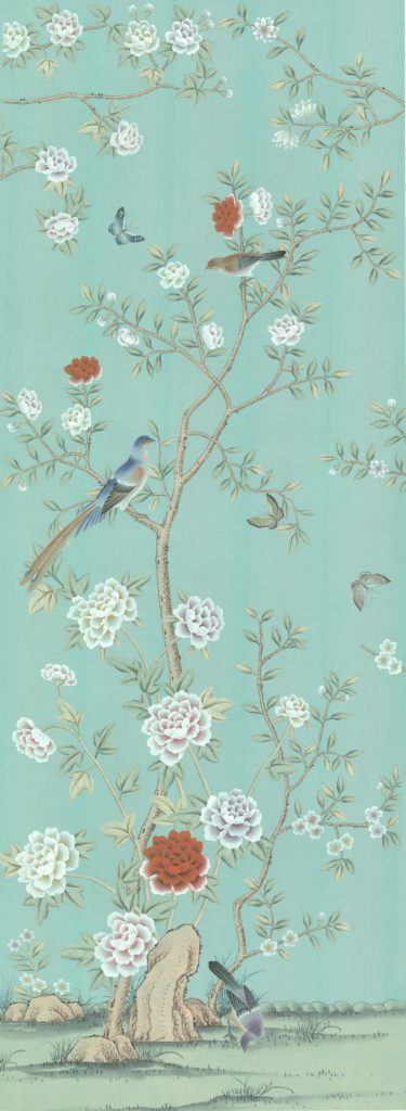 Chinoiserie Wallpaper Blue Etsy