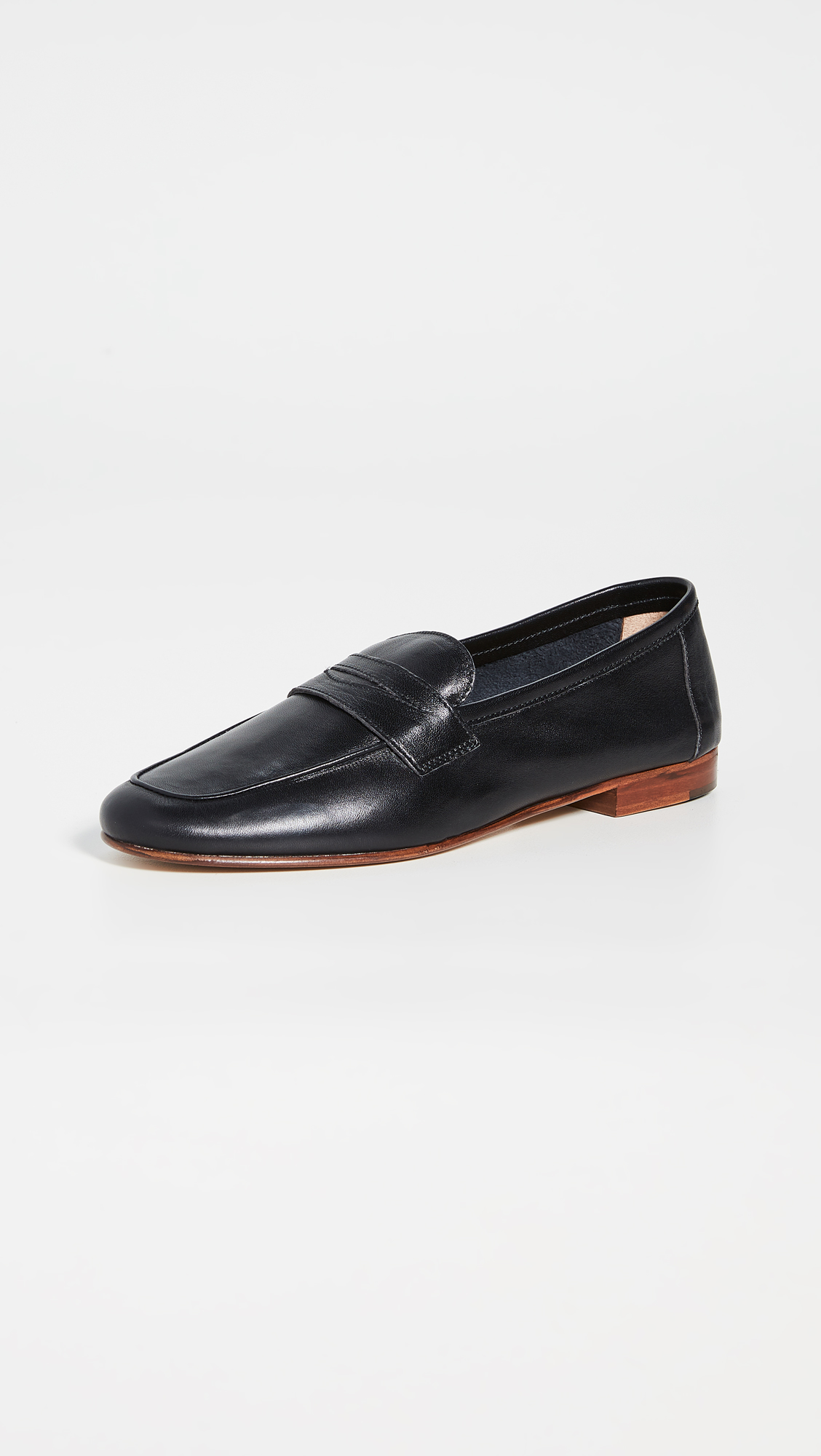 Classic Black Leather Loafer