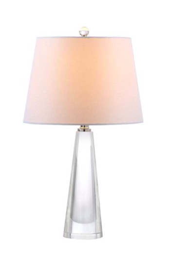 Clear Table Lamp Off-White Shade
