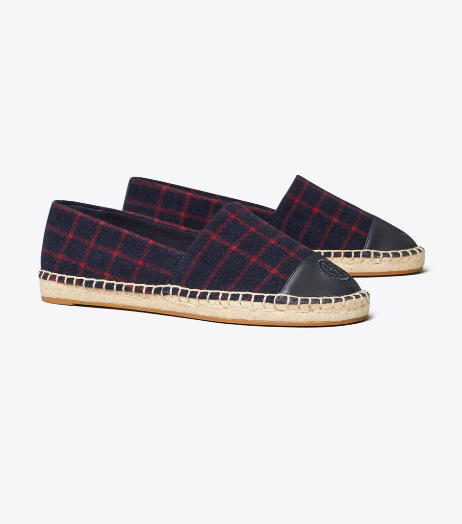 Color Block Wool Espadrille