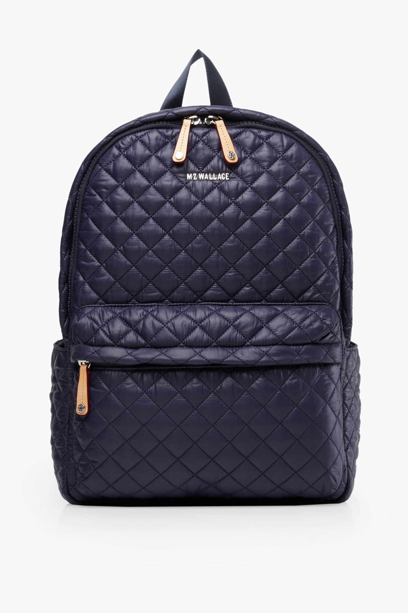 Blue Quilted Backpack