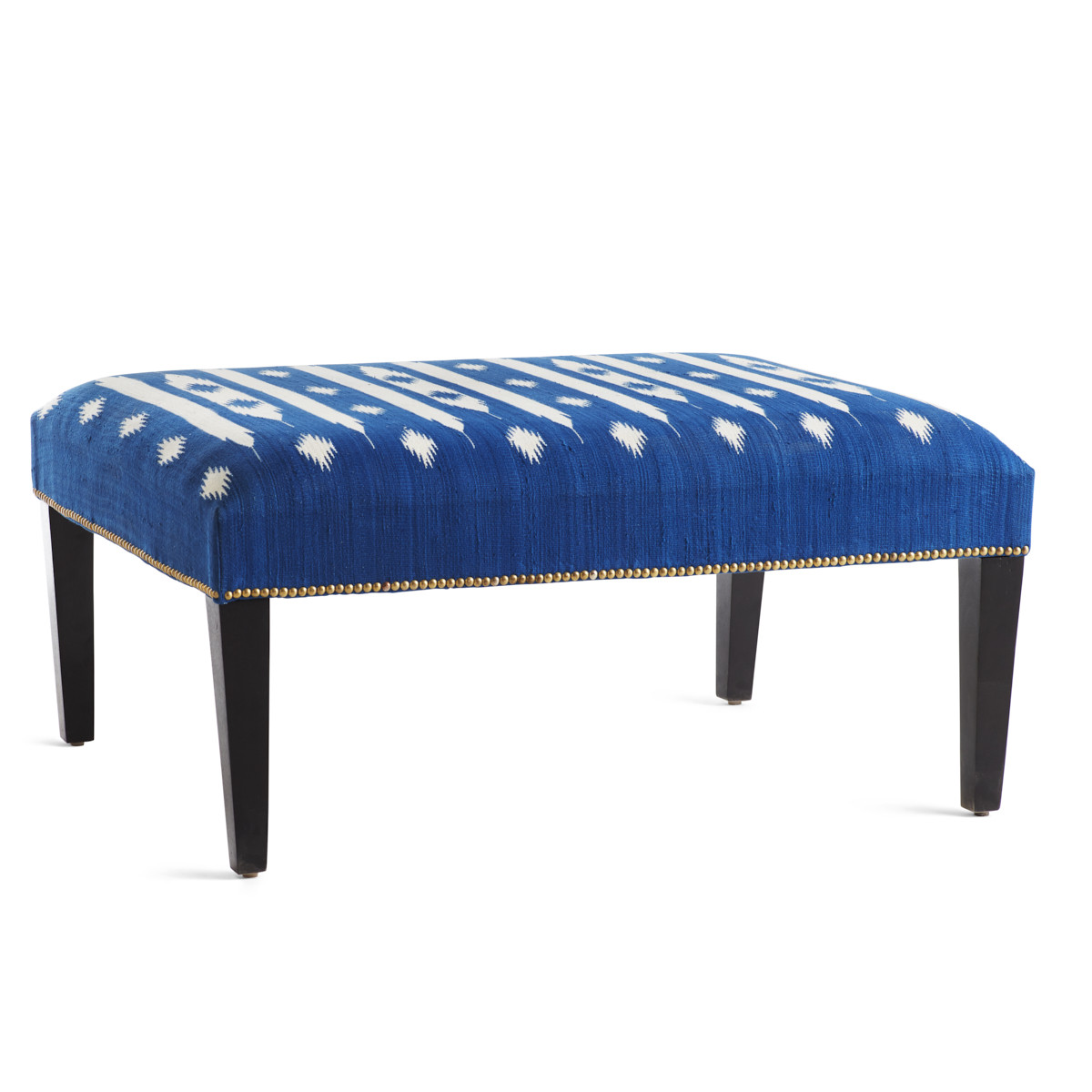 Blue Handmade Embroidered Bench Seat