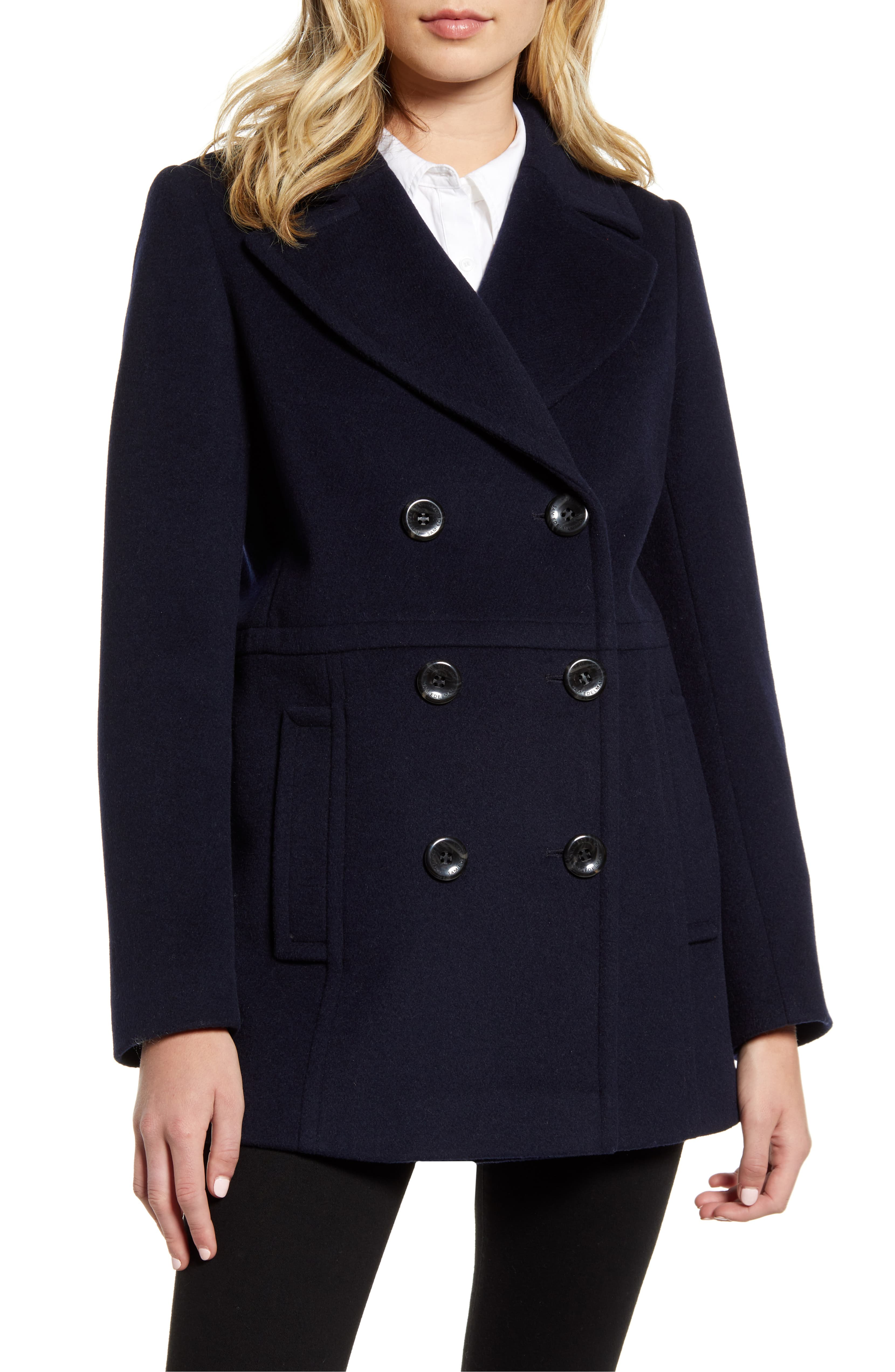 Double Breasted Navy Peacoat