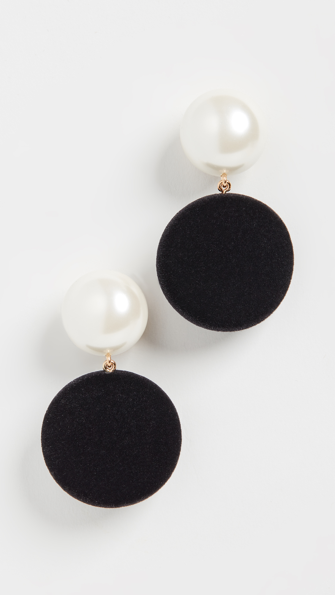Pearl and Disc Drop Earrings