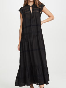 The Daily Hunt: Black Tiered Midi Dress and More!