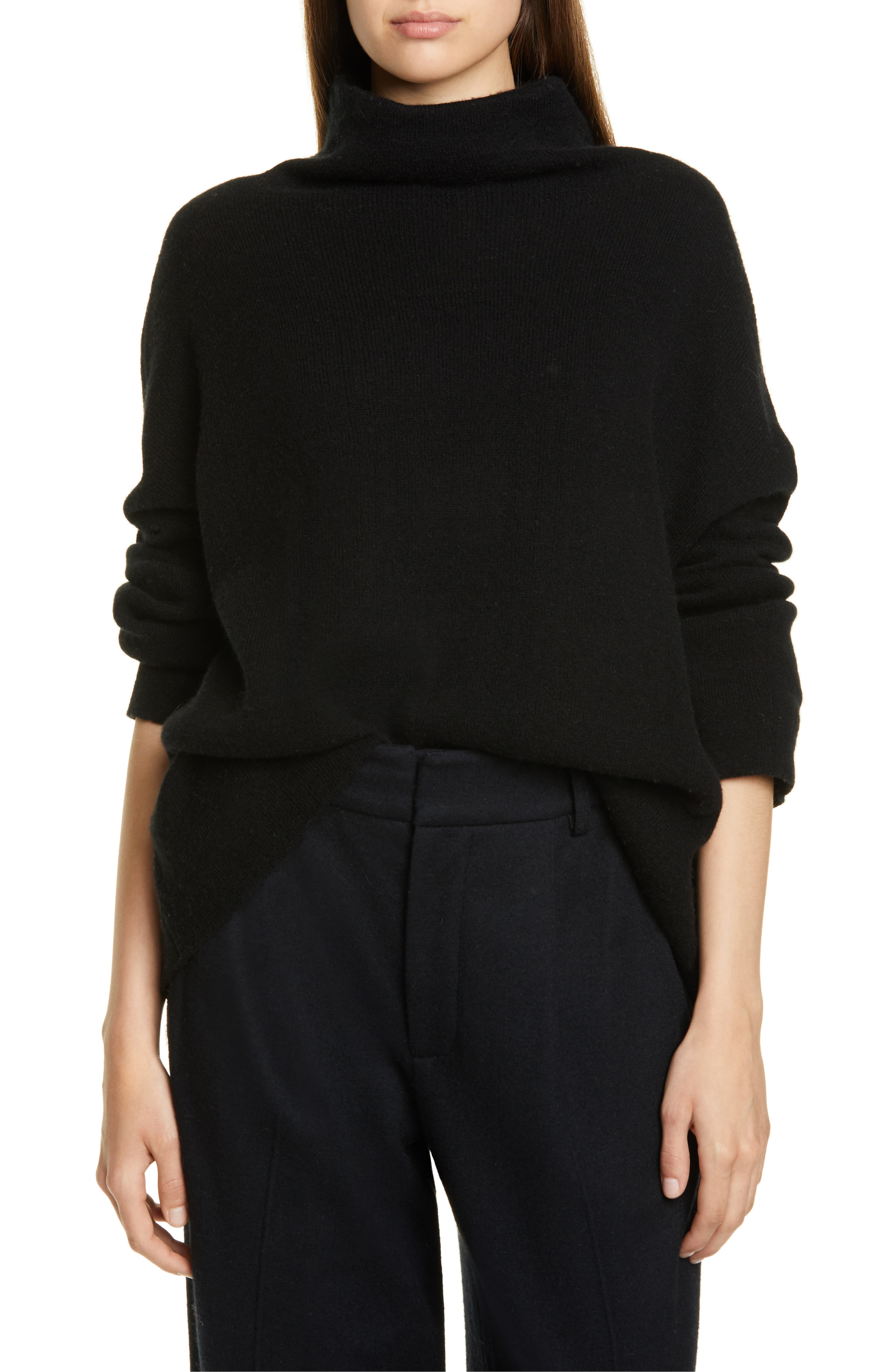 Funnel Neck Slouchy Sweater