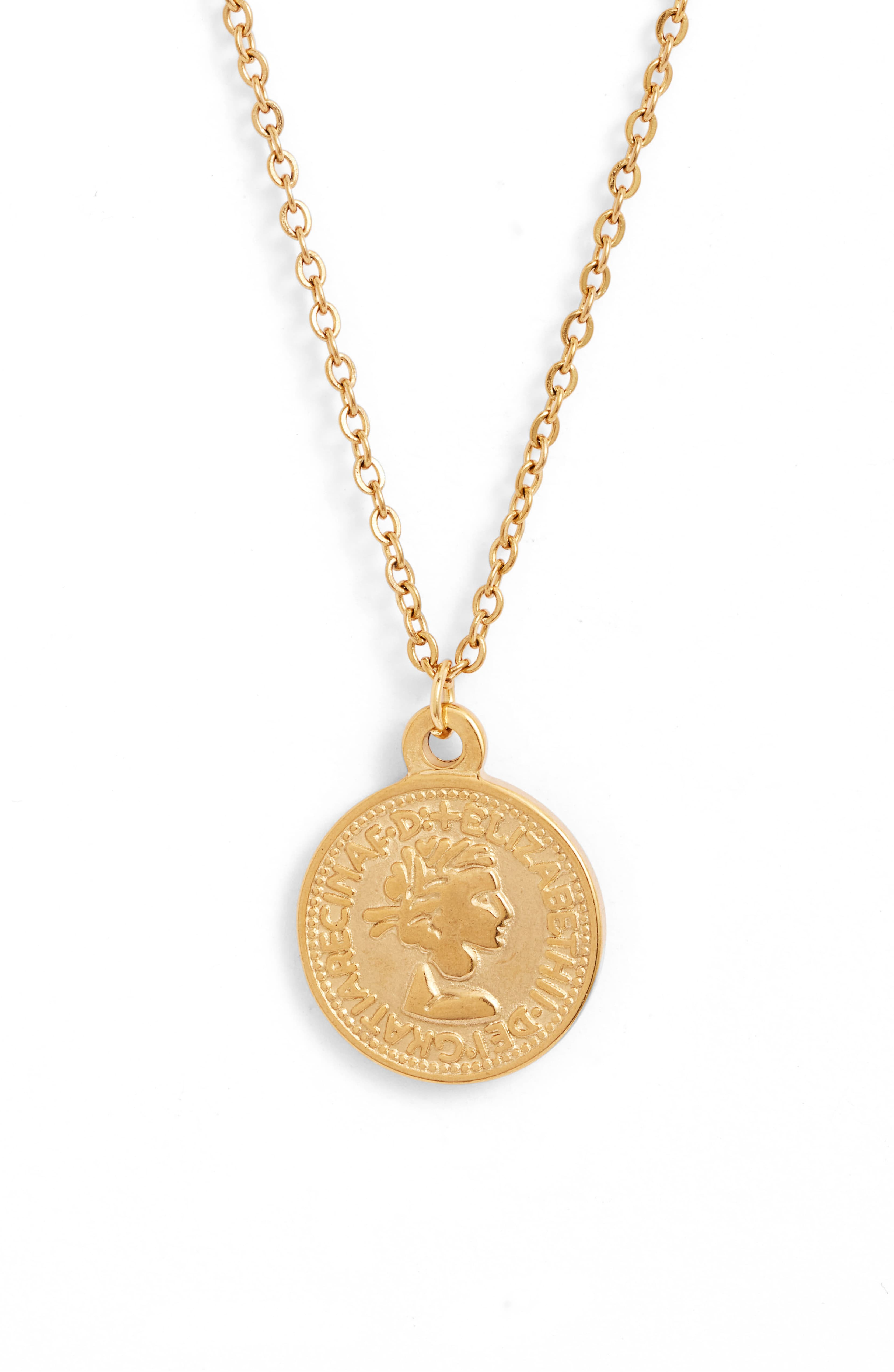 Genesis Coin Pendant Necklace