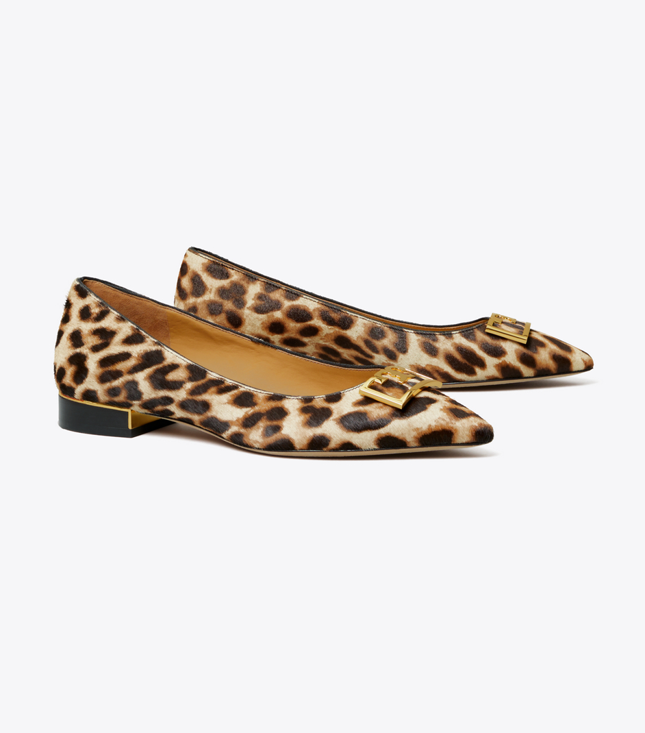Leopard Print Pointed Toe Flat