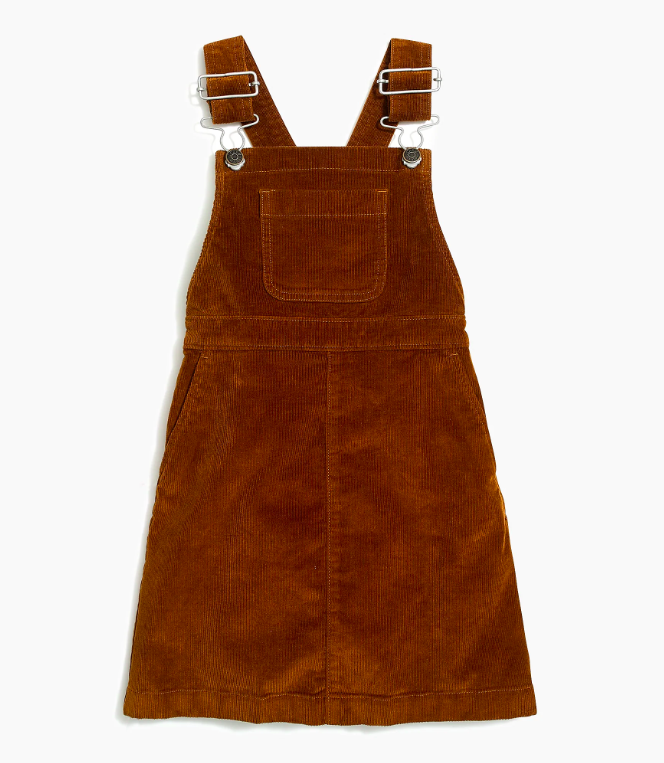 Girls' Corduroy Overall Dress