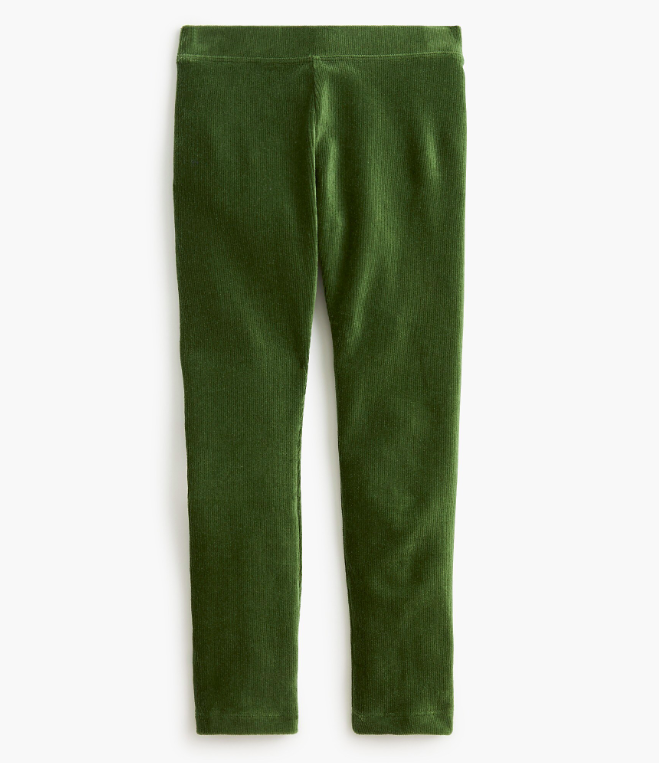 Girls' Stretch Cozy Cord Leggings Green