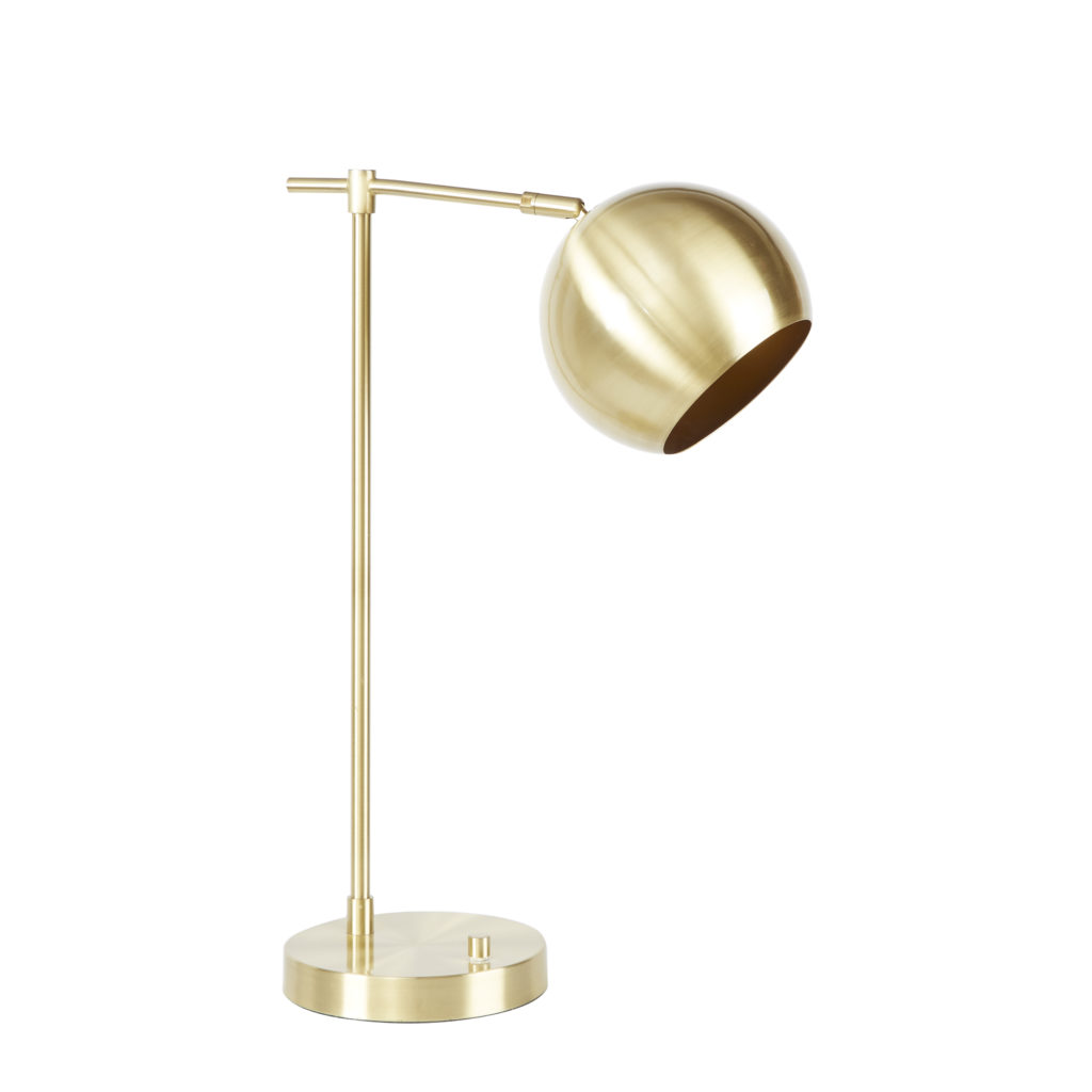 Gold Orb Desk Lamp
