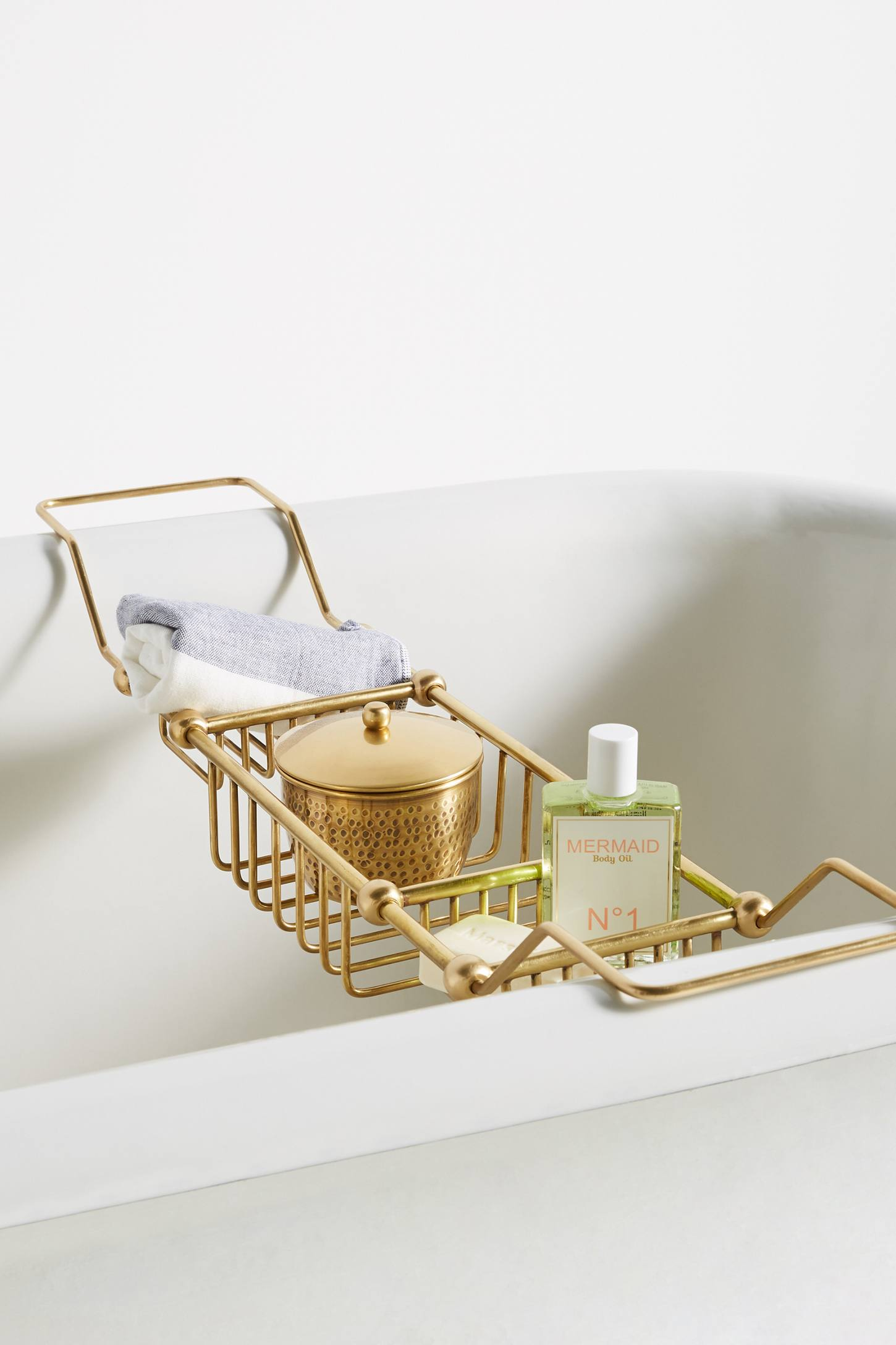 Gold Storage Bath Caddy