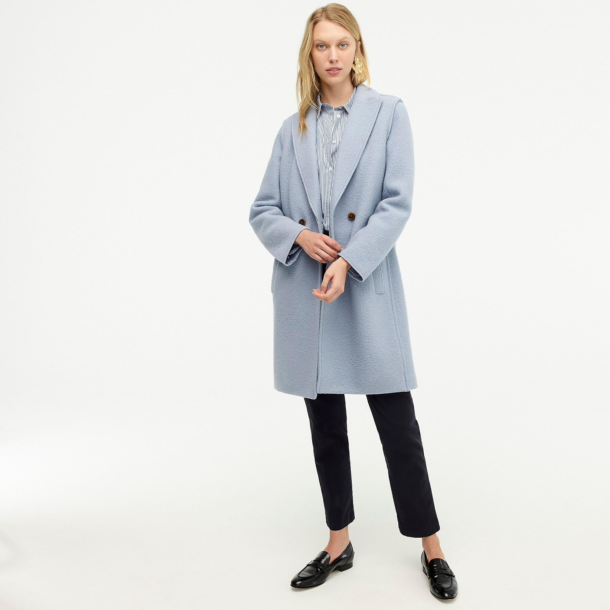 Blue Wool Top Coat