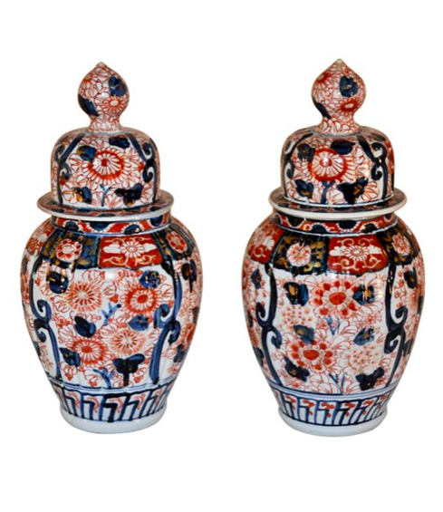 Antique Imari Porcelain Ginger Jars