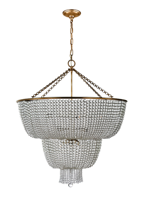 Jacqueline Two Tier Chandelier Aerin
