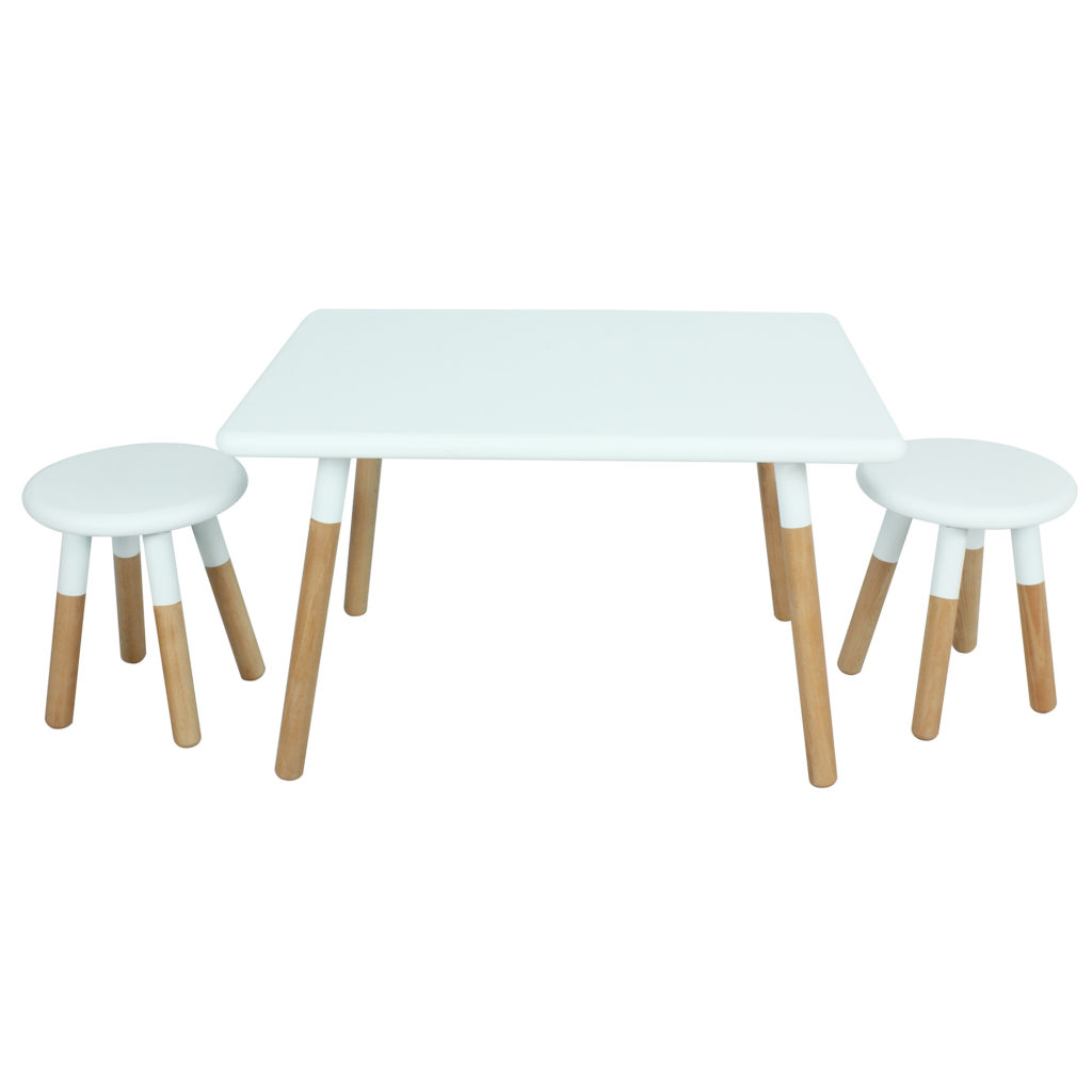 Kids' Dipped Table and Stool Set Wood