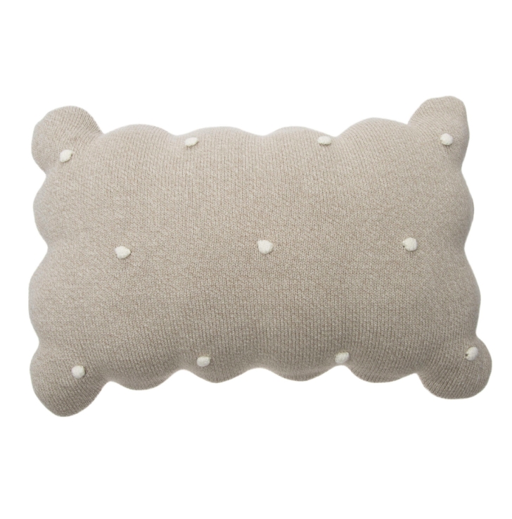 Knitted Biscuit Cushion Pillow