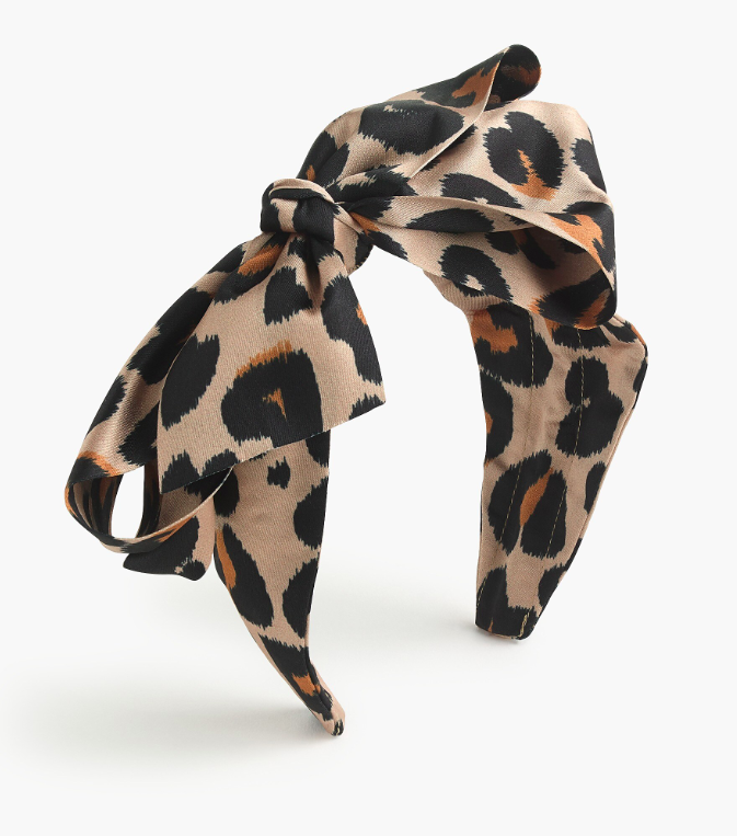 Girls' Leopard Print Bow Headband Kids'
