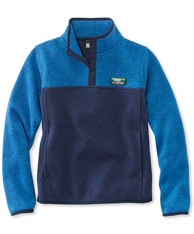 L.L.Bean Kids' Sweater Fleece Pullover Blue Boys'