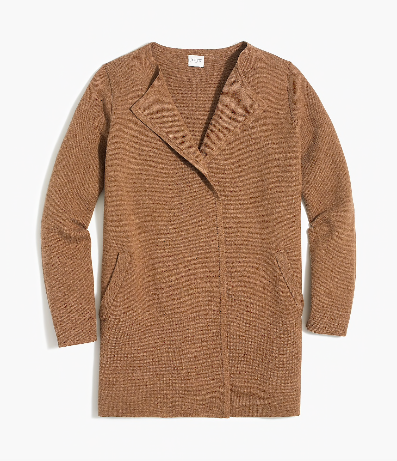 Camel Brown Sweater Jacket