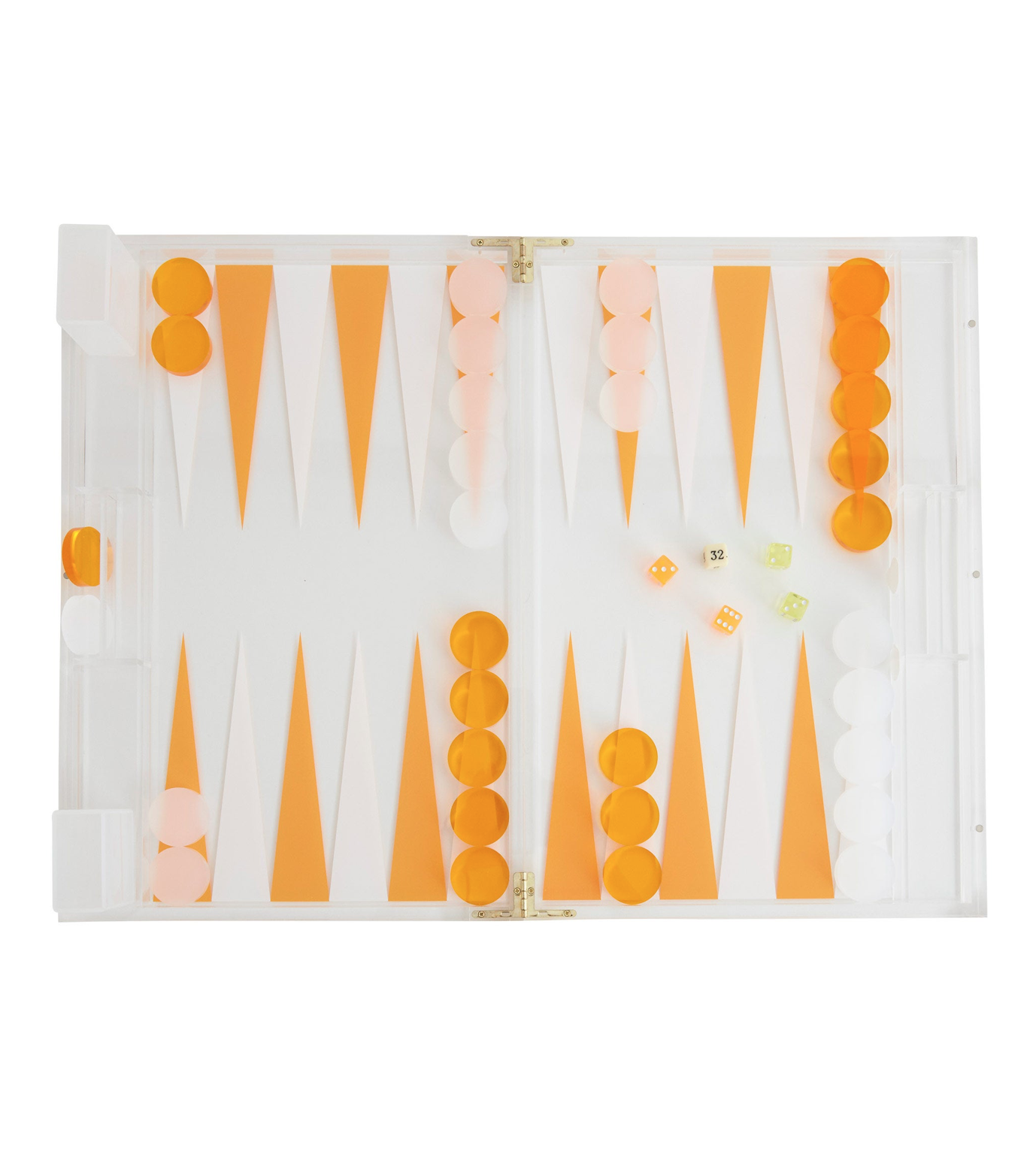 Lucite Backgammon Set
