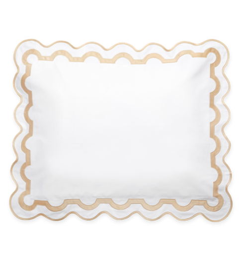 Matouk Mirasol Pillow Sham Scalloped
