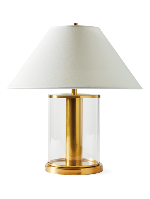 Midbrook Table Lamp Brass Glass