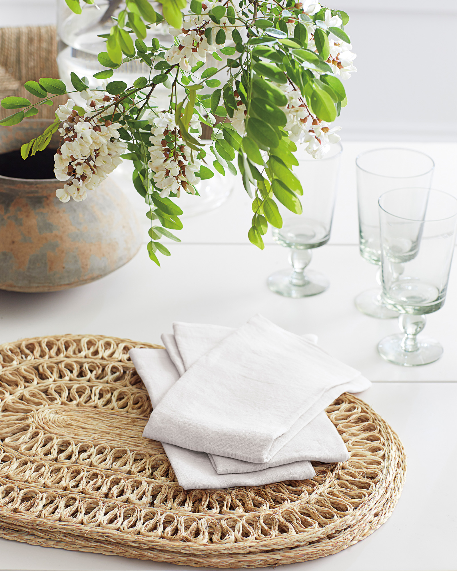 Braided Oval Shape Placemat