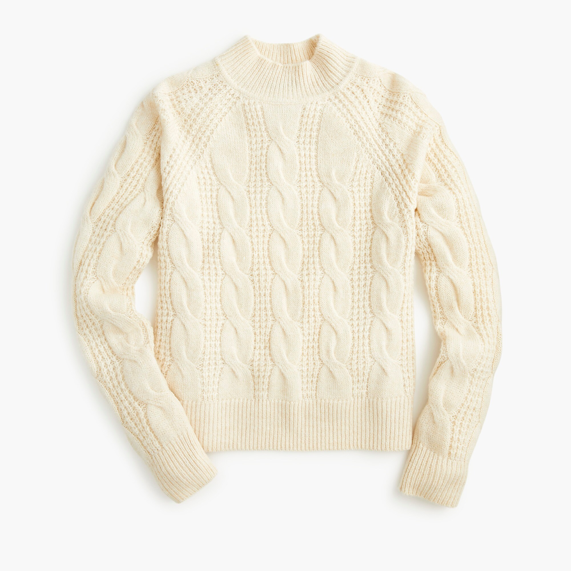 Mockneck Cable Knit Sweater