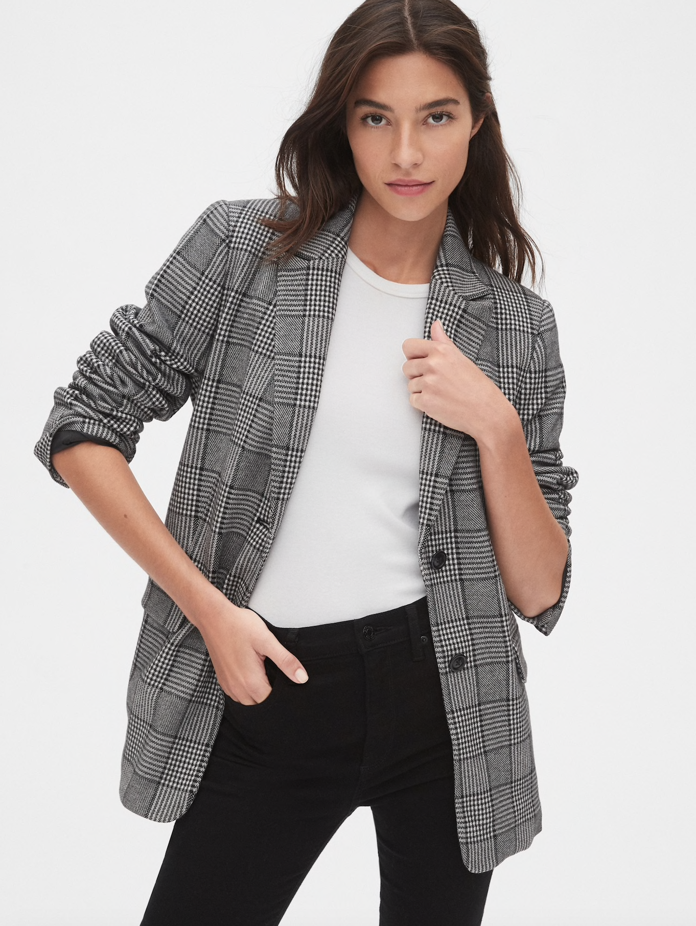 Modern Plaid Blazer