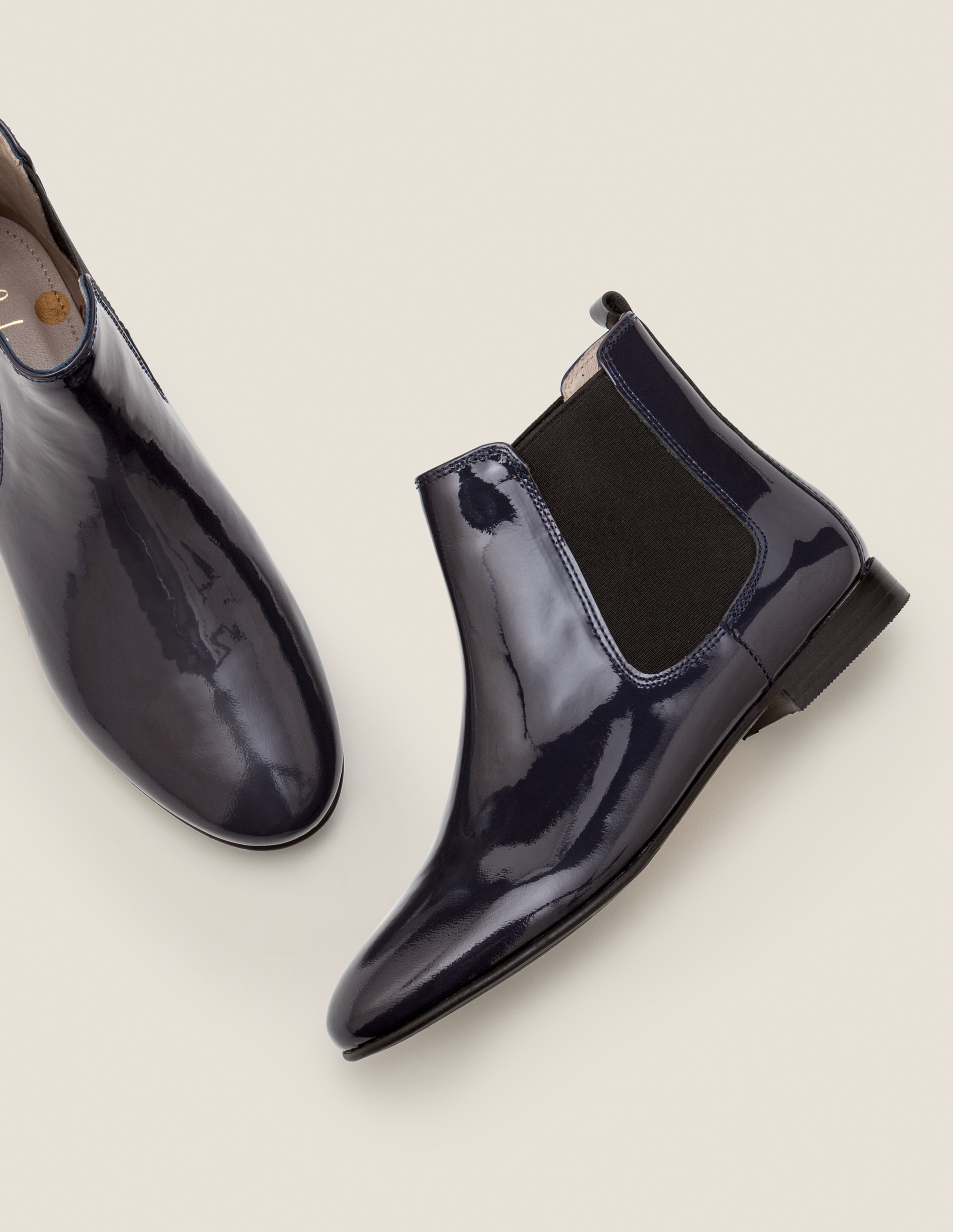 Navy Blue Chelsea Boots