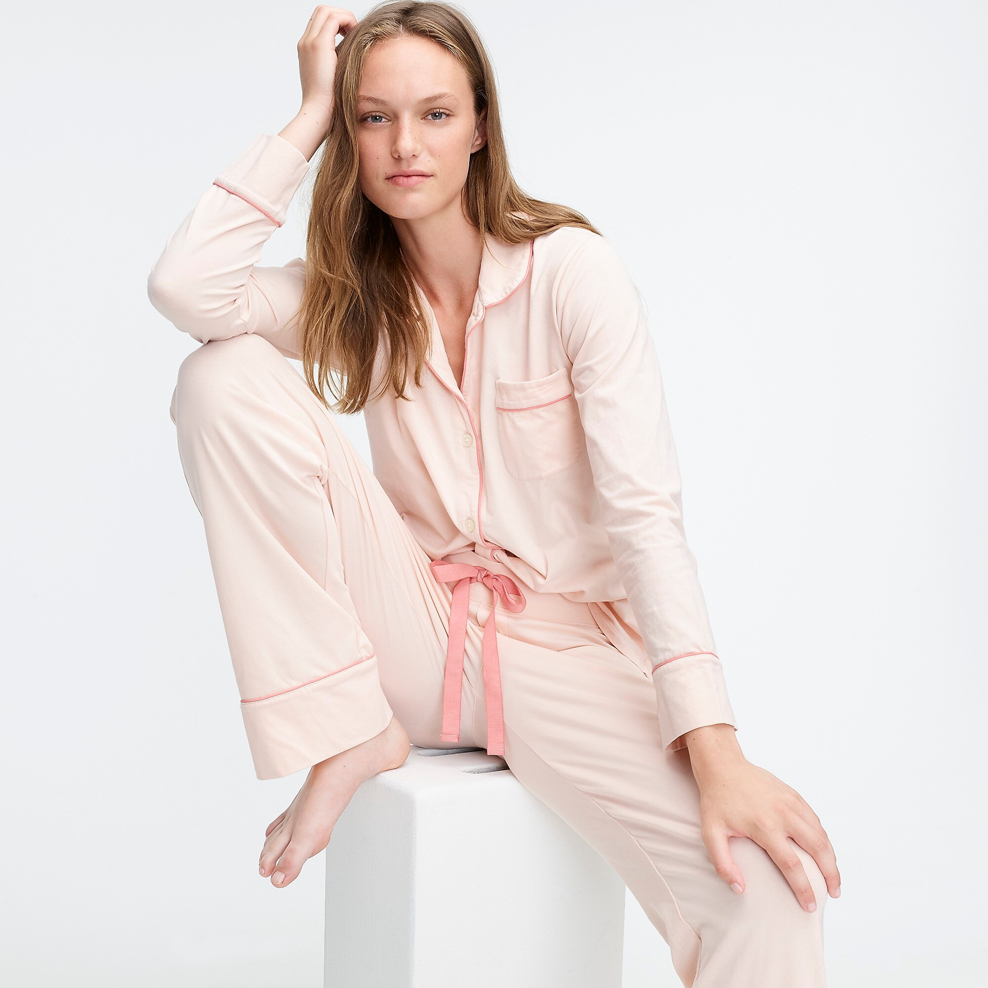 Pink Long Pajama Set