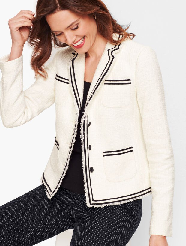 Ivory and Black Tweed Jacket