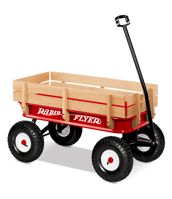 Radio Flyer Wood and Steel Red Wagon