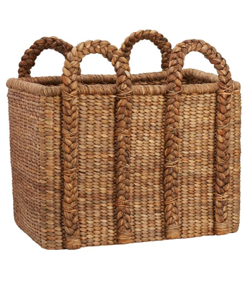 Large Rectangular Log Basket