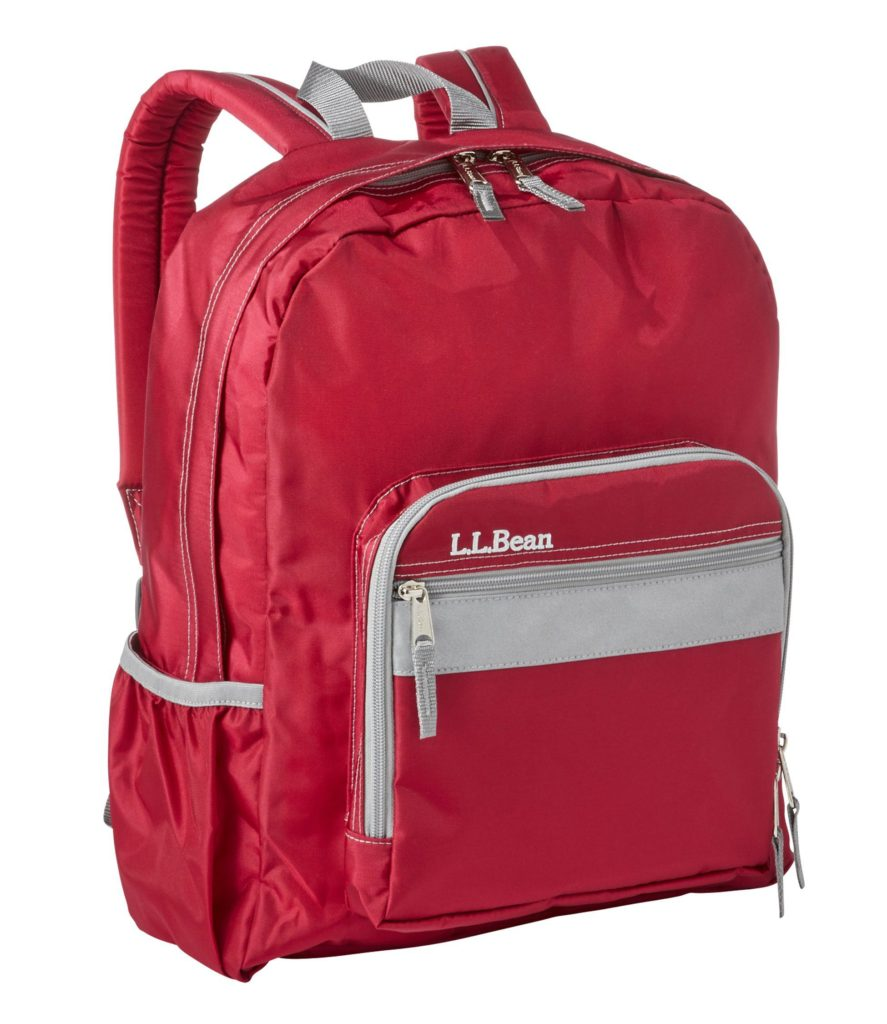 L.L.Bean Original Backpack Book Pack Red Kids'