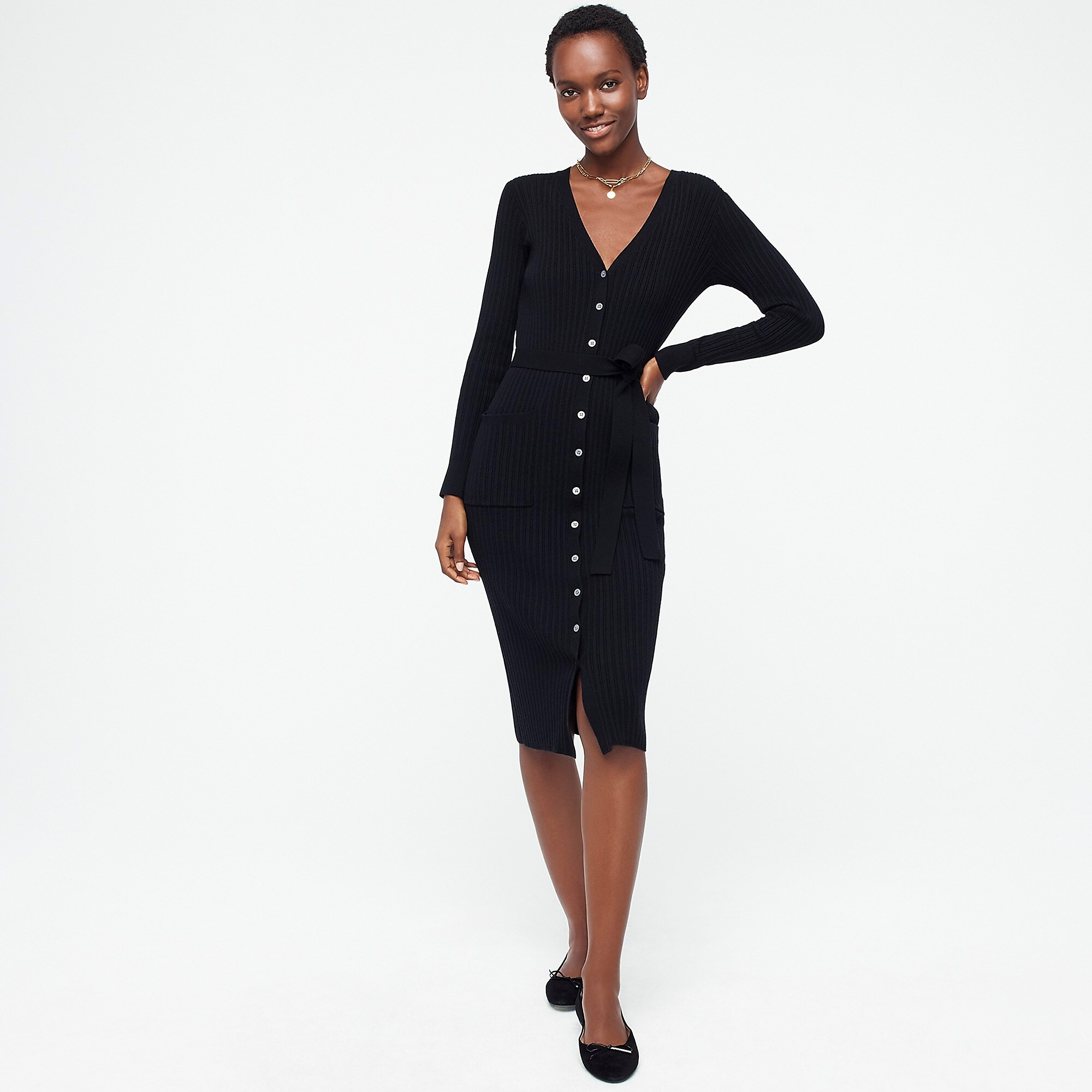 Button Front Cardigan Dress