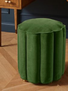 The Daily Hunt: Scalloped Velvet Pouf and More!