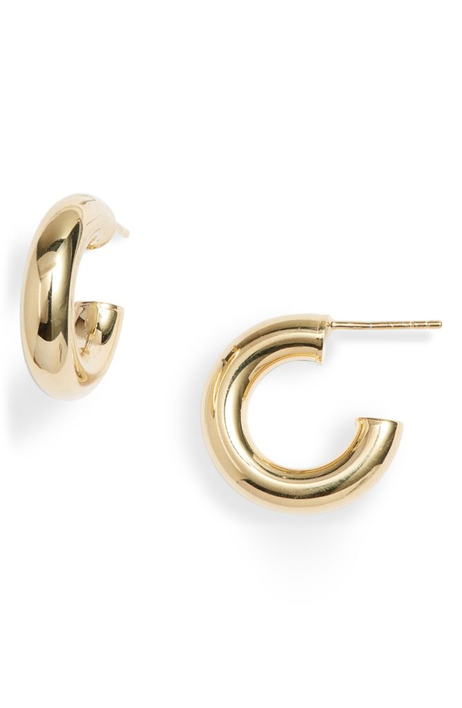 Thick Tubular Gold Hoops