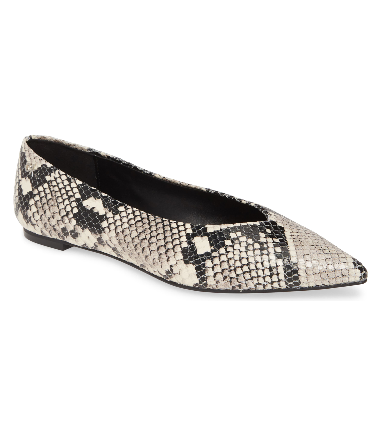 Snake Embossed Leather Flats