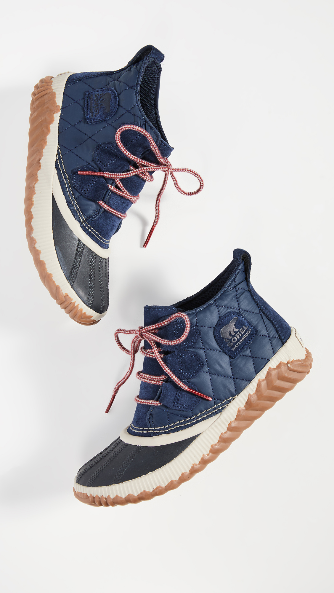 Navy Blue Quilted Boots
