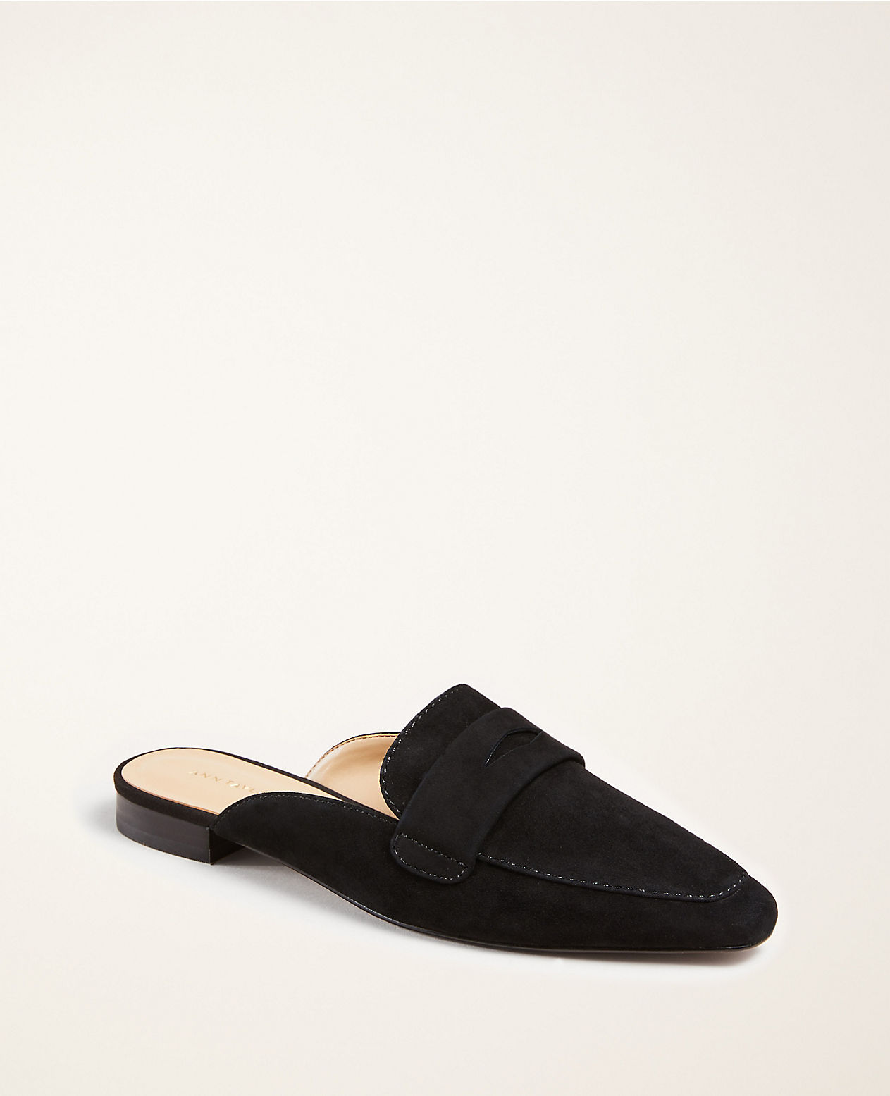 Suede Loafer Slides