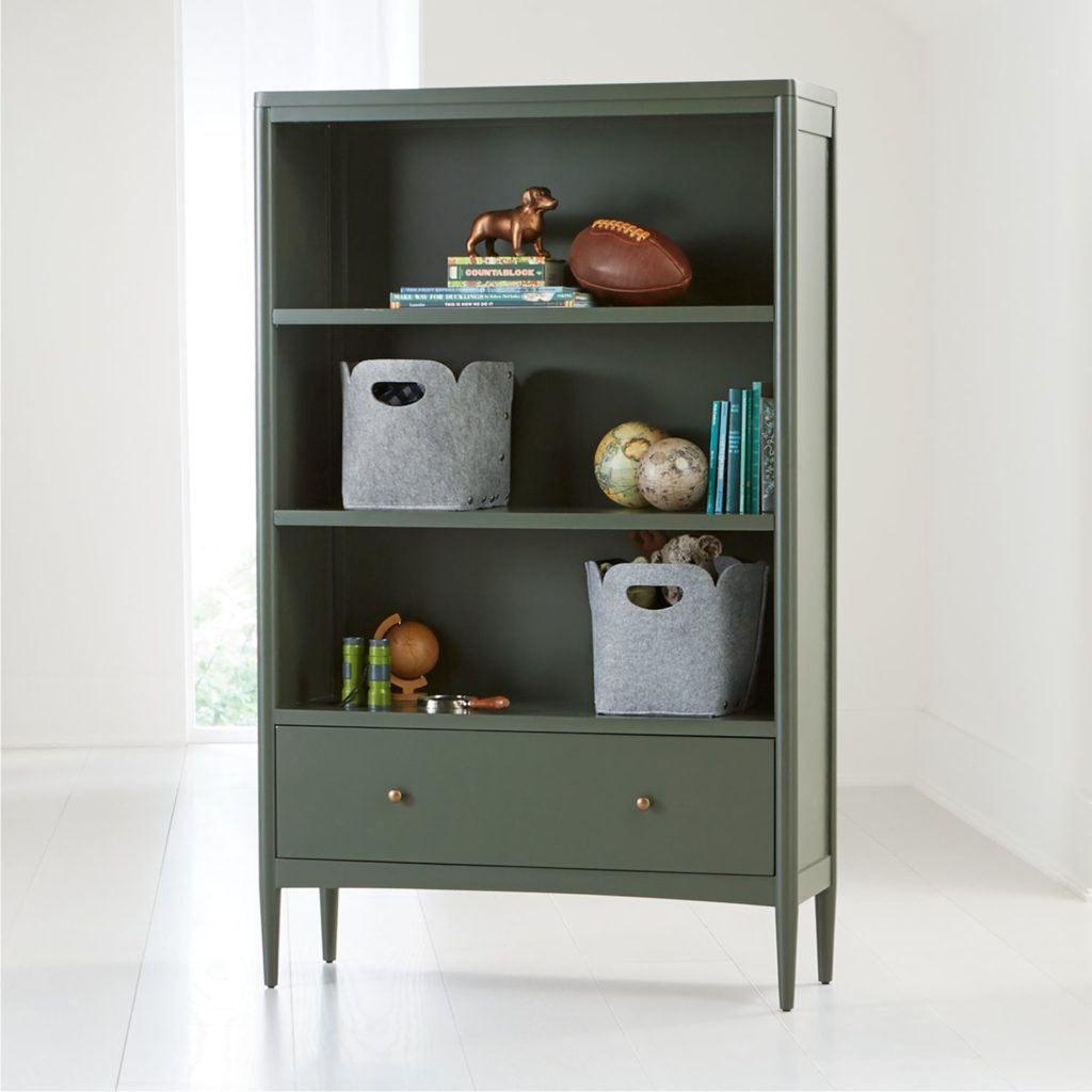 Tall Olive Green Bookcase Hampshire Kids' Room