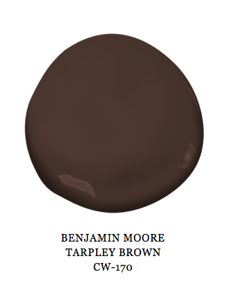 Benjamin Moore Tarpley Brown Paint Color